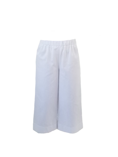 The Coastal Culotte in White Oxford