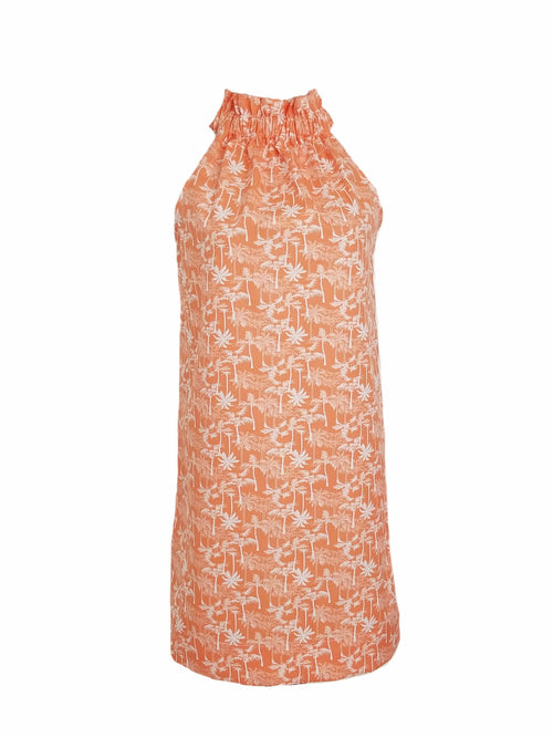 The Kiawah Dress in Coral Palms