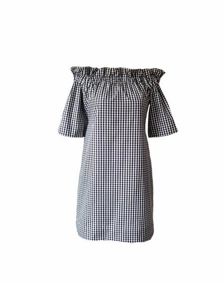 The Hampton Dress in Black gingham