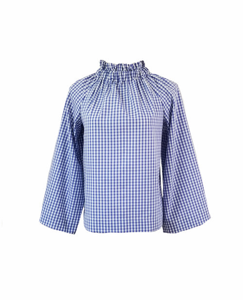 The Peak Top in Royal gingham