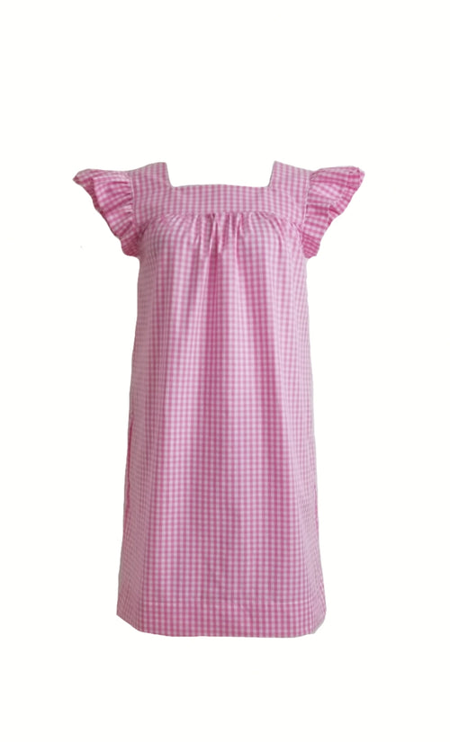"The Low Country Dress in Pink 1/4"" gingham"