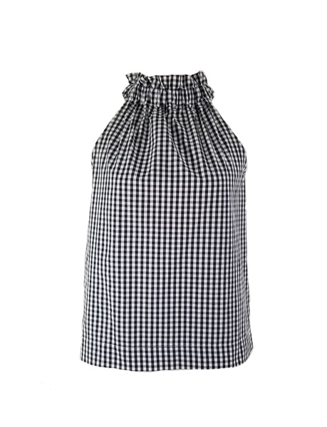 The Kiawah Top in Black Gingham