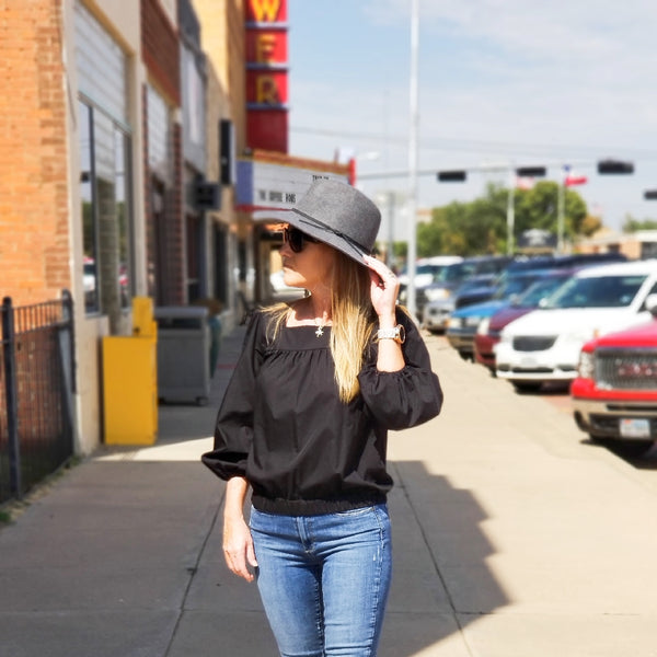 The Bluffton Top in Black
