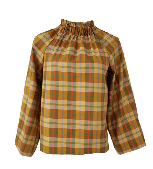 The Peak Top in Pumpkin Spice Plaid