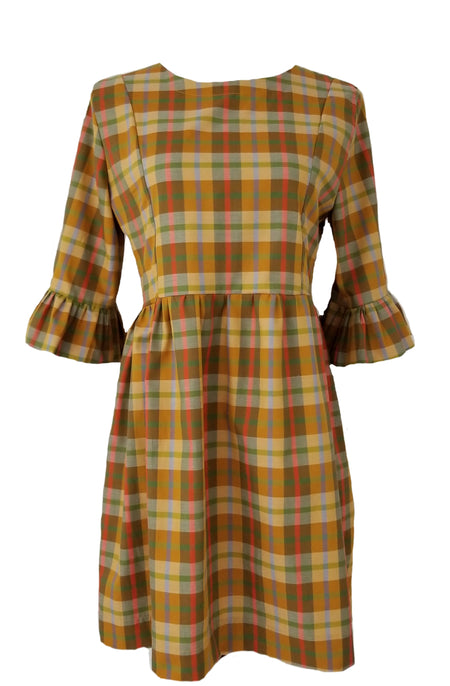 The Derby Dress in Pumpkin Spice Plaid