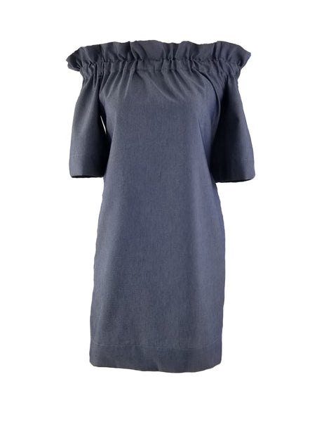 The Derby Dress in Featherlight Navy Denim