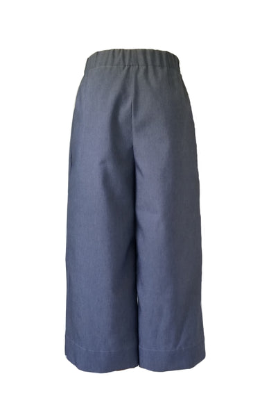 The Coastal Culotte in Featherlight Navy Denim