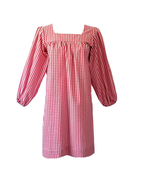 The Bluffton Dress in Red Gingham