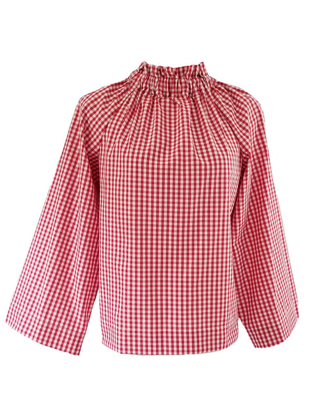 The Peak Top in Red Gingham