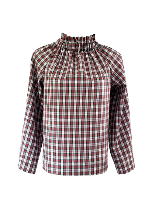 The Peak Top in Christmas Plaid