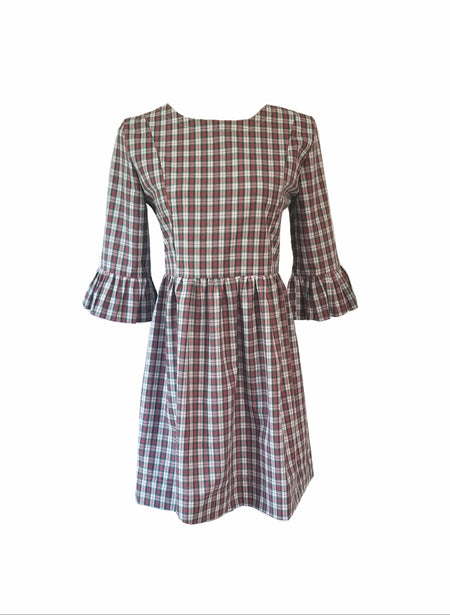 The Carolina Dress in Mulberry Plaid