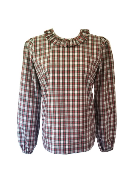 The Carolina Top in Christmas Tartan Plaid