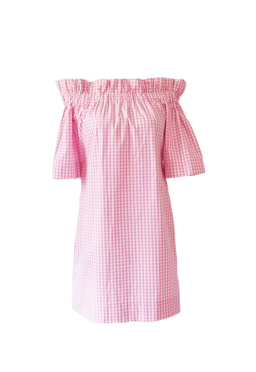 "The Derby Dress in Pink 1/4"" Gingham"