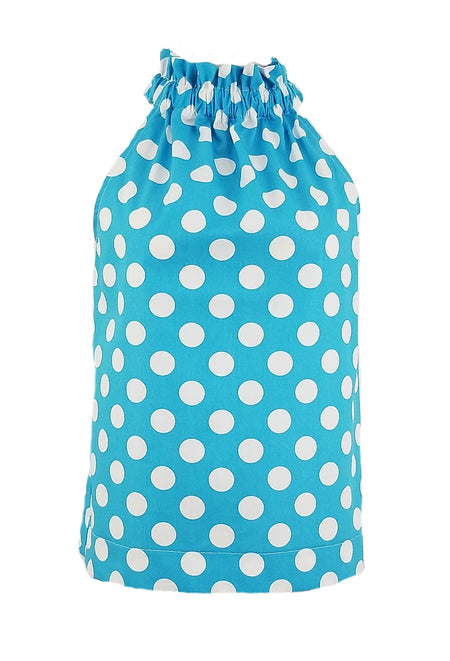 "The Carolina Dress in Turquoise 1/4"" Gingham"