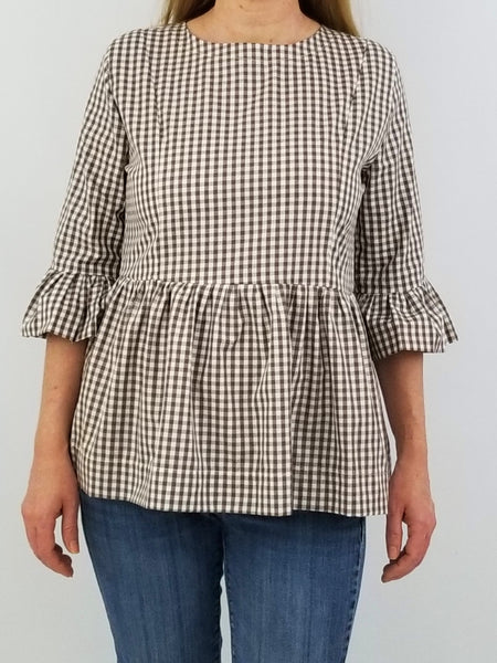 The Pawleys Top in Red Gingham