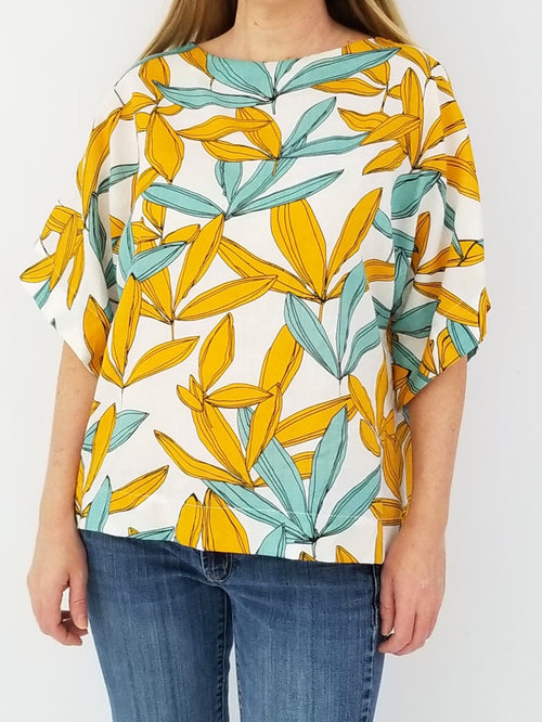 The Collins Top in Banana Leaf