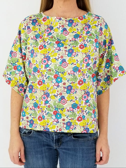 The Collins Top in Lawn Floral