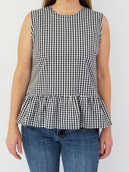 The Pawleys Top in Black Gingham
