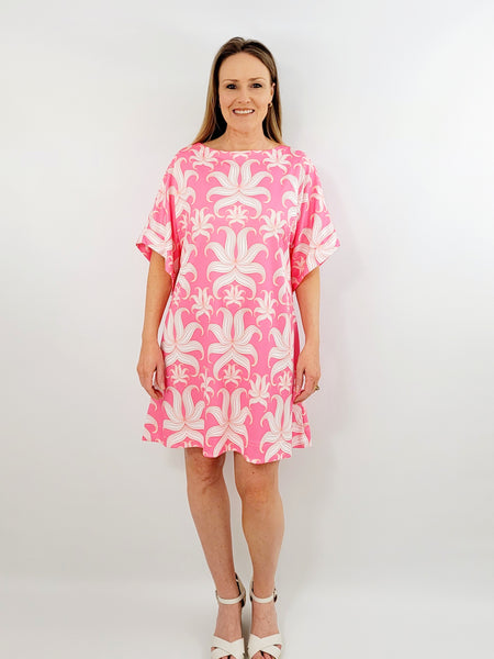 The Derby top in Pink Lawn