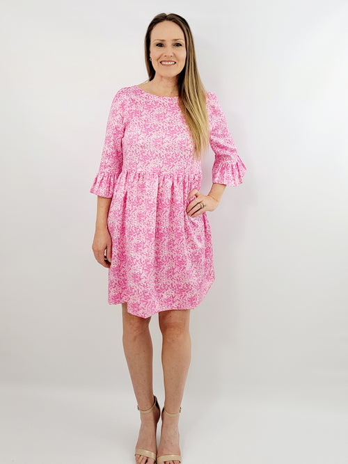 The Carolina dress in Pink Lawn