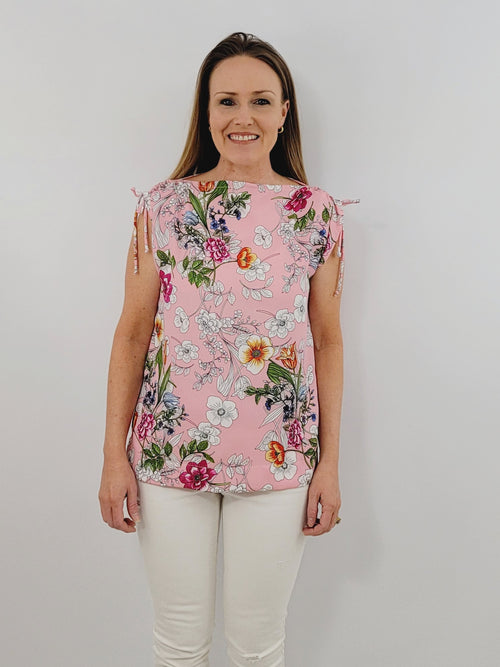 The Athena Top in Color Me Floral