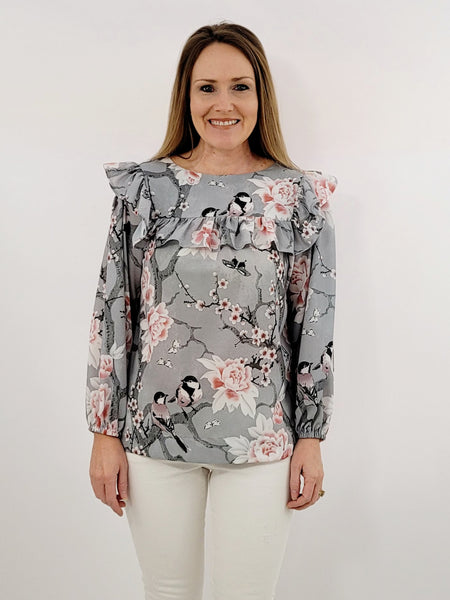 The Bluffton Top in Chinoiserie Blossoms