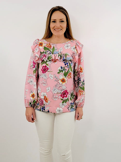 The Bluffton Top in Color Me Floral