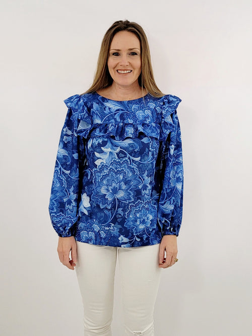 The Bluffton Top in Ginger Jar Blue
