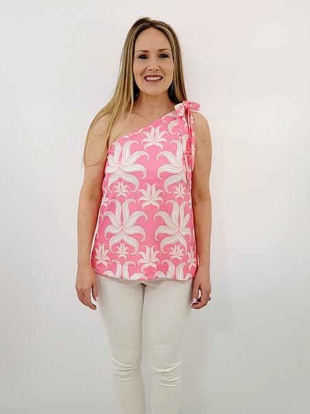 The Carolina Top in Periwinkle Geo