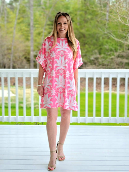 The Collins Dress in Pink Lilly