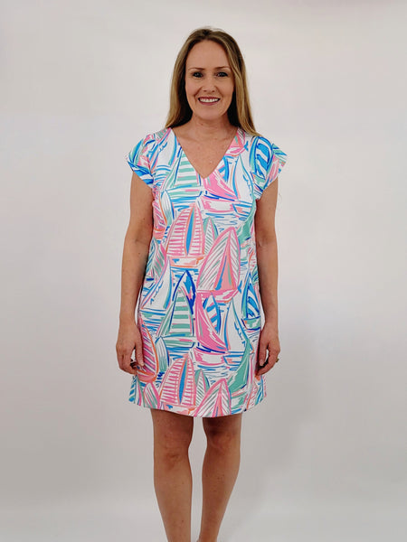 The Folly Frock Dress in Swooning Sails