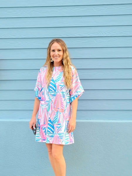 The Collins Dress in Swooning Sails