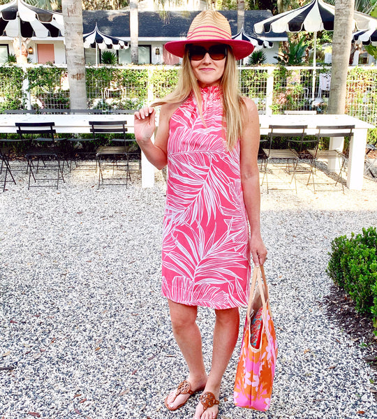 The Kiawah Dress in Palm Waves