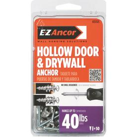 Hollow Door and Drywall Anchor - Pack of 50