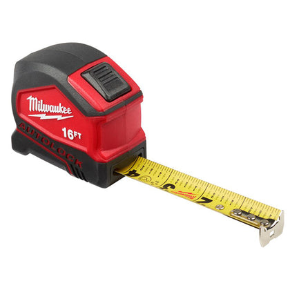 16FT Compact Auto-Lock Tape Measure