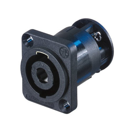 4-pole Male speakON Panel-mount Connector