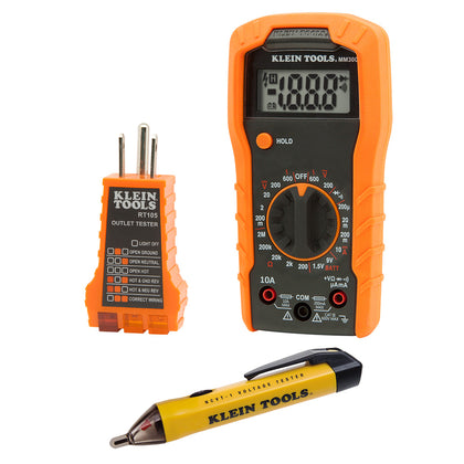 Test Kit with Multimeter, Non-Contact Volt Tester, Outlet Tester