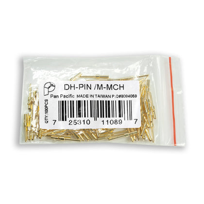 DH-PIN/M Male D-Sub Crimp Connectors (100ct)