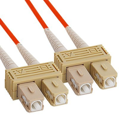 SC-SC Duplex Multimode 62.5/125 (OM1) Fiber Optic Patch Cable in Orange