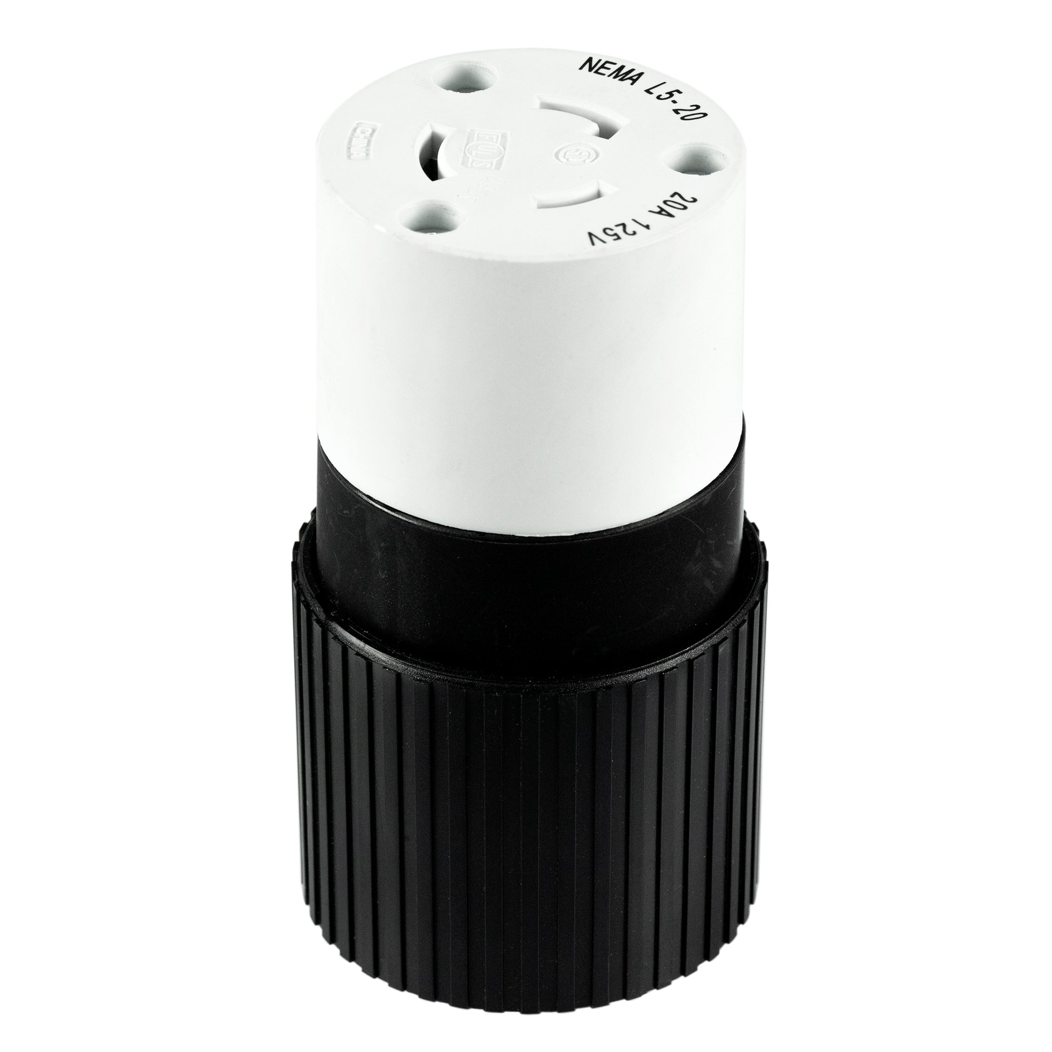 20A, 125VAC, 2 Pole 3 Wire Locking Connector