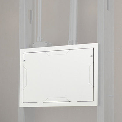 In-Wall Storage Box with Flange -White