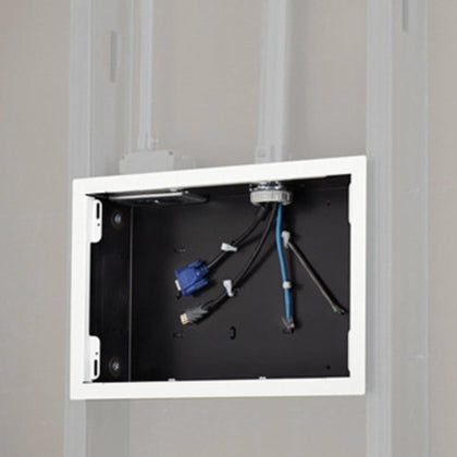 In-Wall Storage Box with Flange -White (PAC525FW)