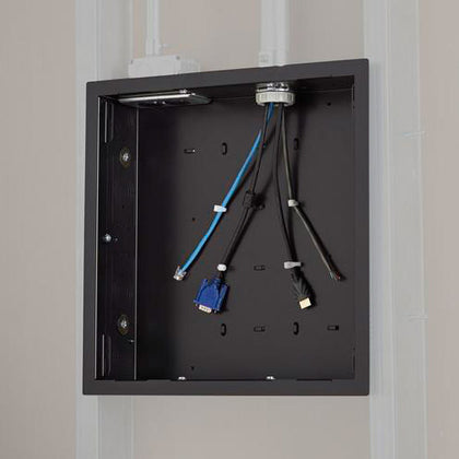 In-Wall Storage Box with Flange - Black