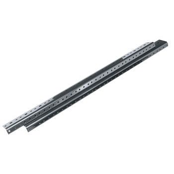 27 Space Rackrail - Black - 2 Pack