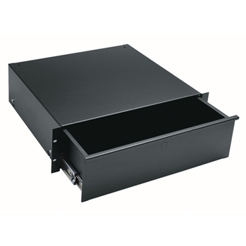3-Space Rack Drawer - Black - 3 RU