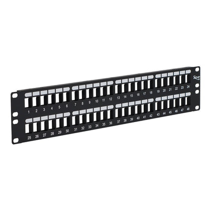 Blank Patch Panel with 48 Ports and 2 RMS for HD Style