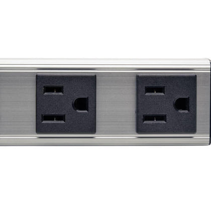 Outlet Power Strip, 6-ft. Cord, 5-15P, 12 in.