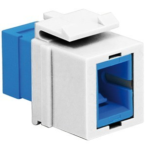 SC Fiber Optic Keystone Coupler with Simplex Port