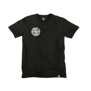 Black Organic Cotton Tee + Be Real Not Perfect Patch (R) - Iron & Stitch