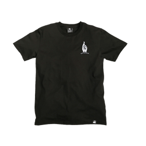 Black Organic Cotton Tee + Create Your Own Luck Patch (L) - Iron & Stitch